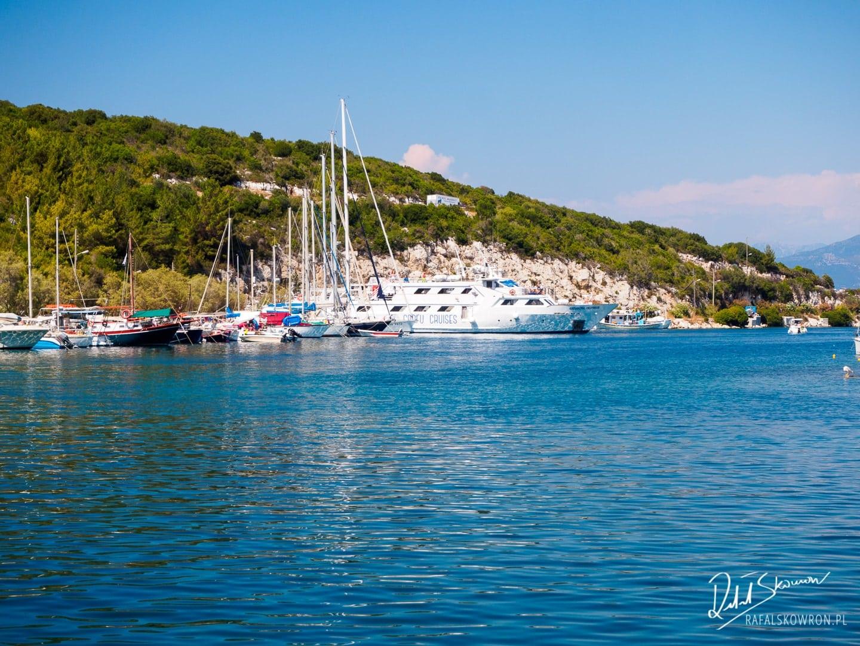 Nasz statek w porcie Gaios na wyspie Paxos.