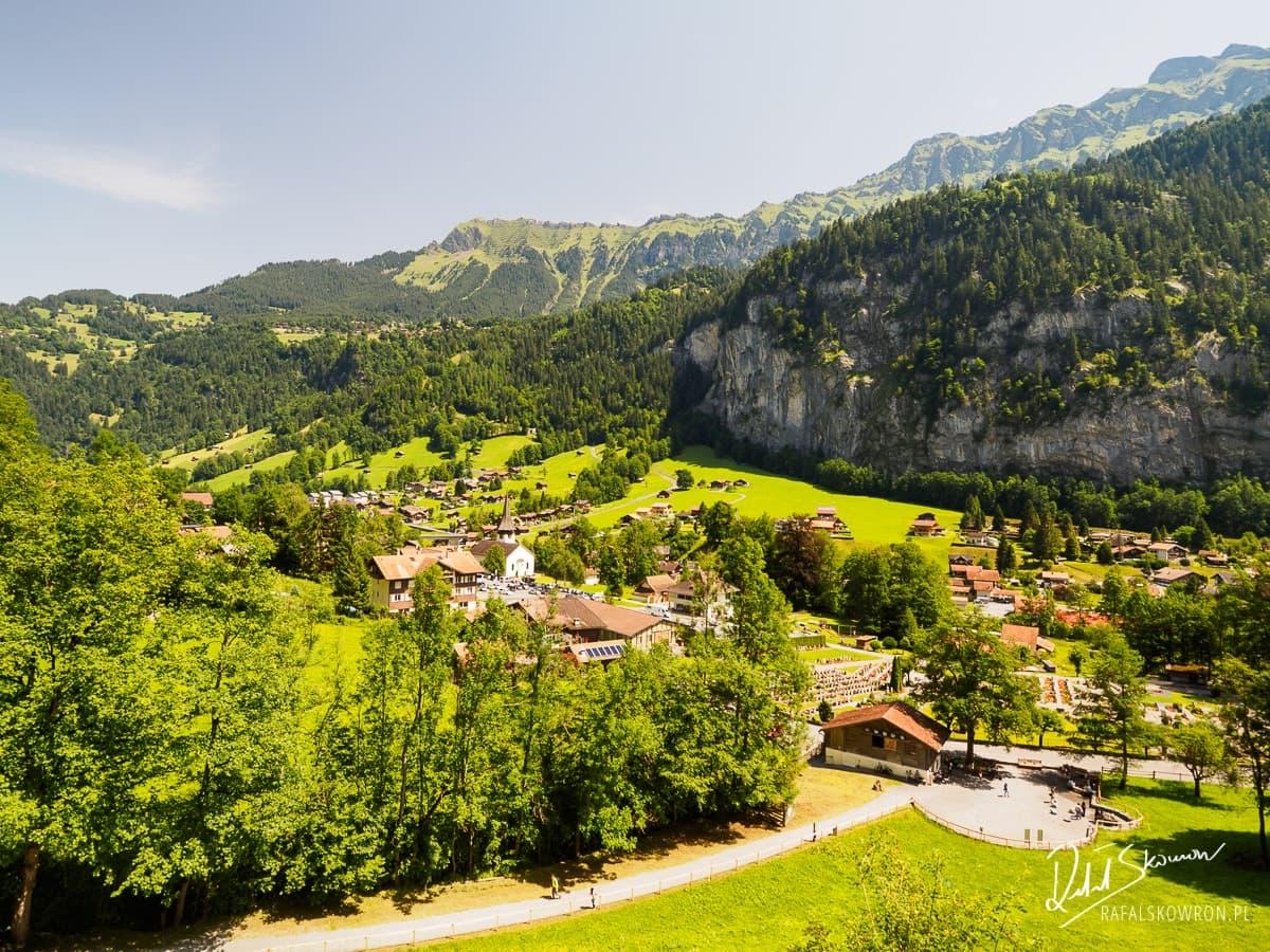 Widok na Lauterbrunnen